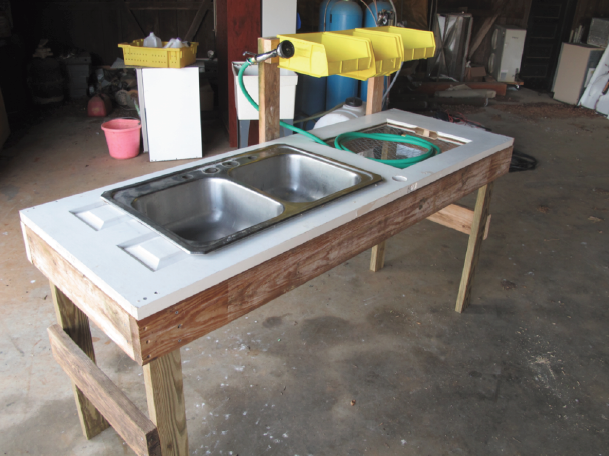Vegetable Washing Station | Farm Hack on Outdoor Sink With Stand id=66790